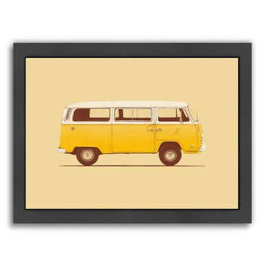 Yellow Van By Florent Bodart - Black Framed Print - Wall Art - Americanflat