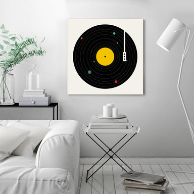 Music Everywhere by Florent Bodart - Wrapped Canvas - Wrapped Canvas - Americanflat