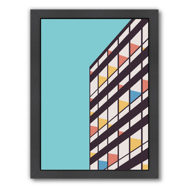 Corbusier By Florent Bodart - Black Framed Print - Wall Art - Americanflat