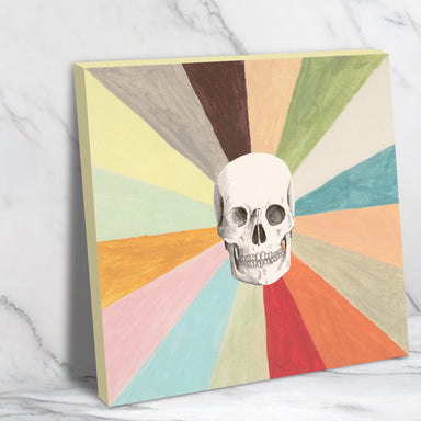 Skull Is Cool by Florent Bodart - Wrapped Canvas - Wrapped Canvas - Americanflat