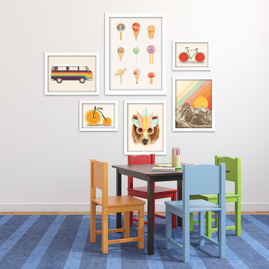 Fun & Funky Children's Framed Art Set - Framed Print - Americanflat