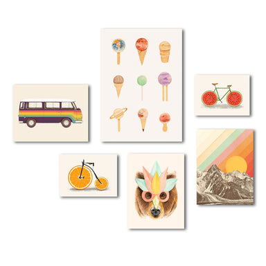 Fun & Funky Children's Canvas Art Set - Wrapped Canvas - Americanflat