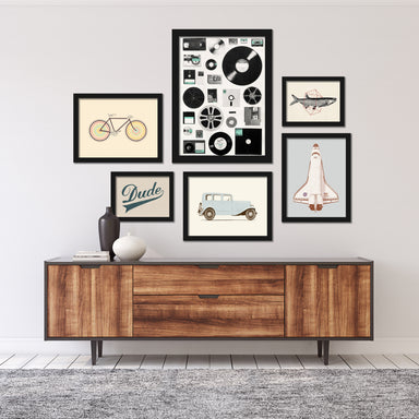 Modern Man Cave Framed Art Set - Framed Print - Americanflat
