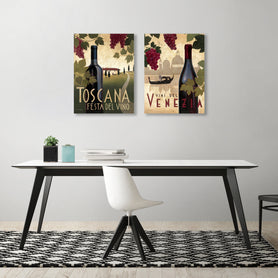 Vino by Marco Fabiano - 2 Piece Gallery Wrapped Canvas Set