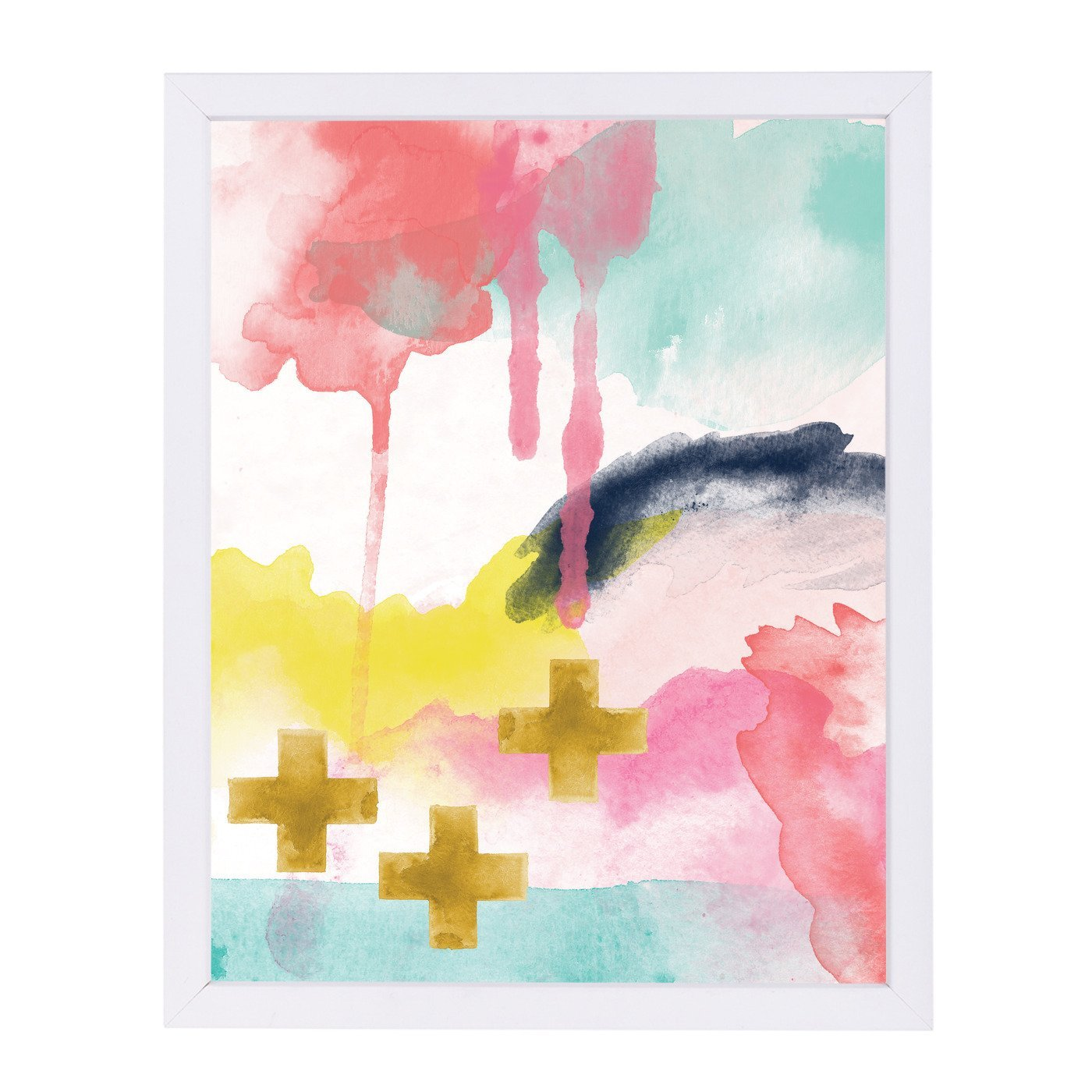 Abstract 1 01 by Amy Brinkman White Framed Print - Wall Art - Americanflat