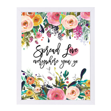 Spread Love Everywhere by Amy Brinkman White Framed Print - Wall Art - Americanflat