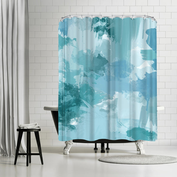 Bomb Pop Blue by Amy Brinkman Shower Curtain