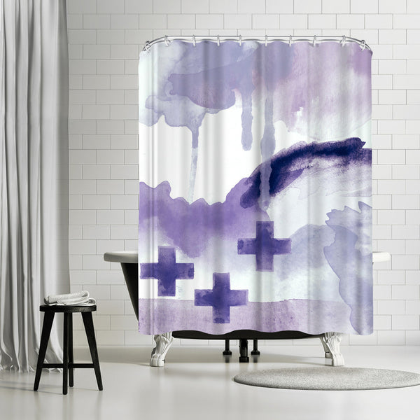 Faith Purple by Amy Brinkman Shower Curtain