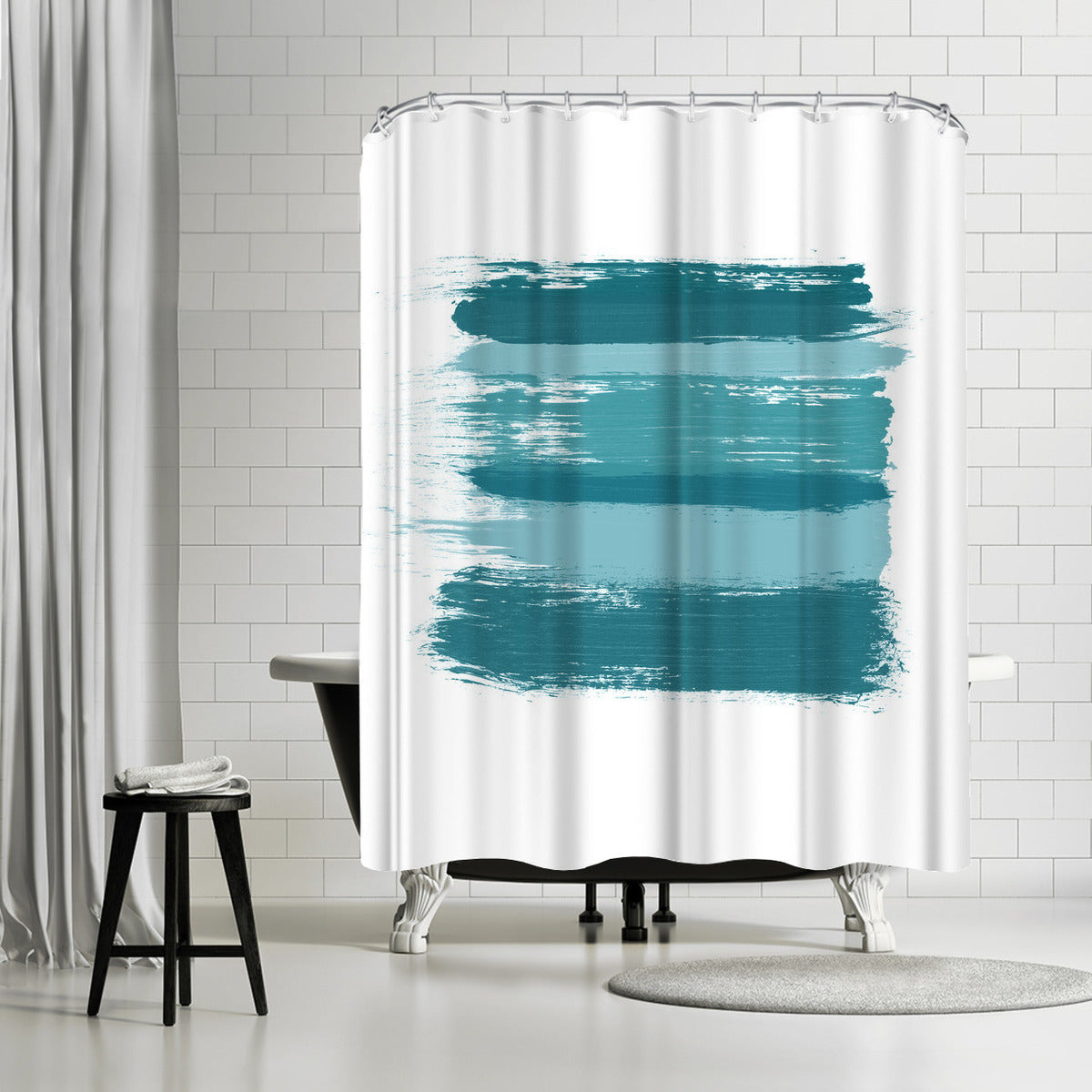 Wash Over Me Blue by Amy Brinkman Shower Curtain -  - Americanflat