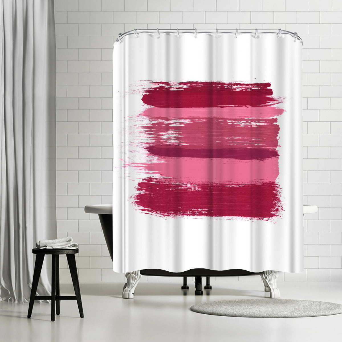 Wash Over Me Modern Pink by Amy Brinkman Shower Curtain -  - Americanflat