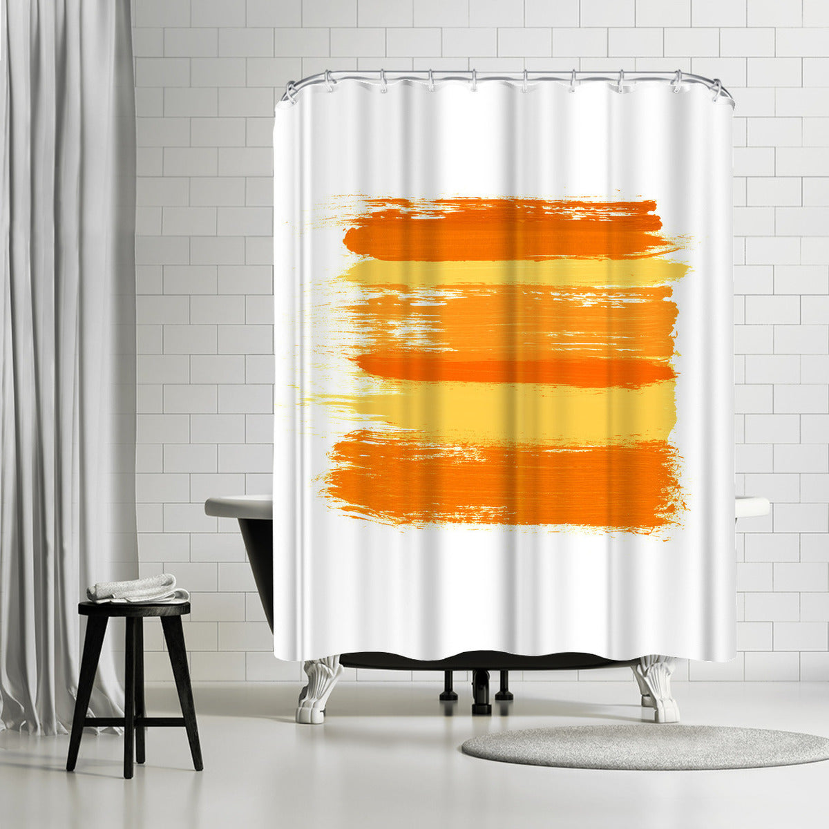 Wash Over Me Yellow by Amy Brinkman Shower Curtain -  - Americanflat