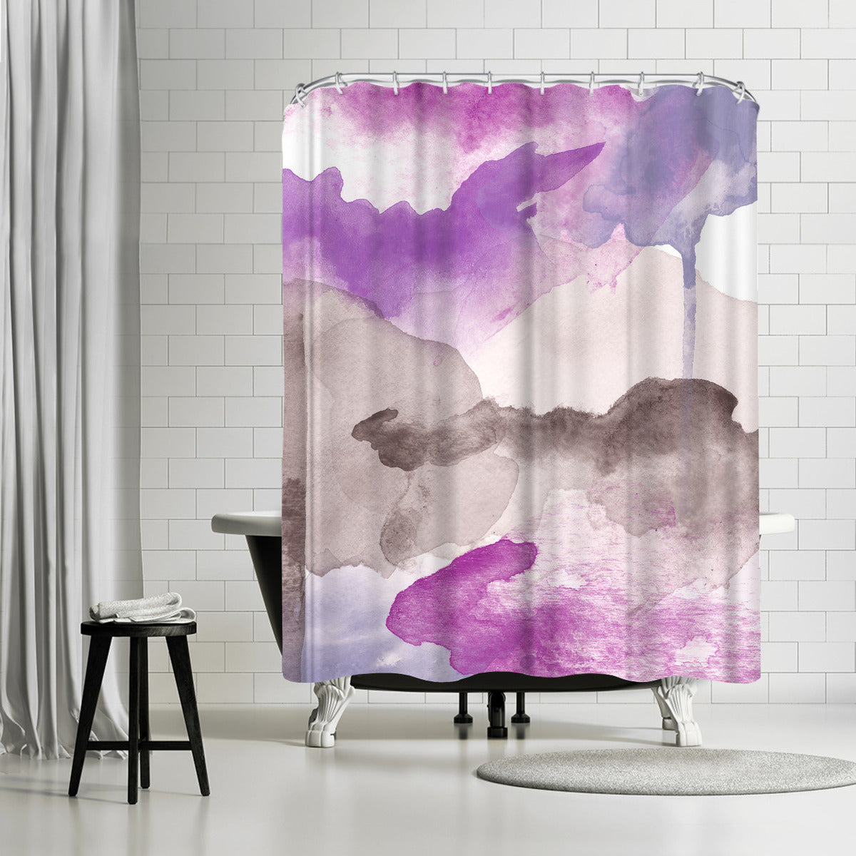 Morning Joy Magentas Purple by Amy Brinkman Shower Curtain - Shower Curtain - Americanflat