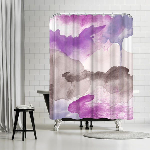 Morning Joy Magentas Purple by Amy Brinkman Shower Curtain