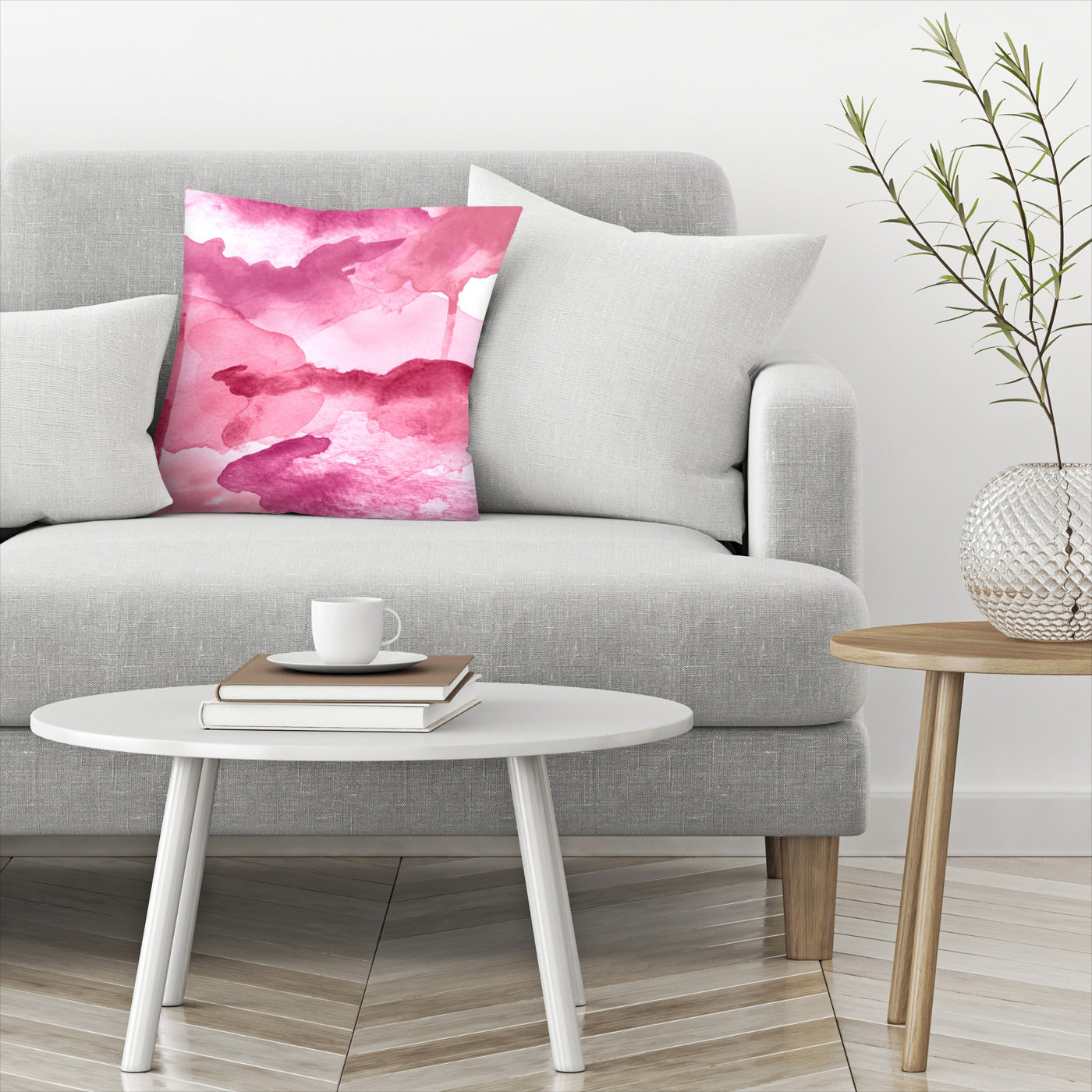 Morning Joy Modern Pink by Amy Brinkman Decorative Pillow - Decorative Pillow - Americanflat