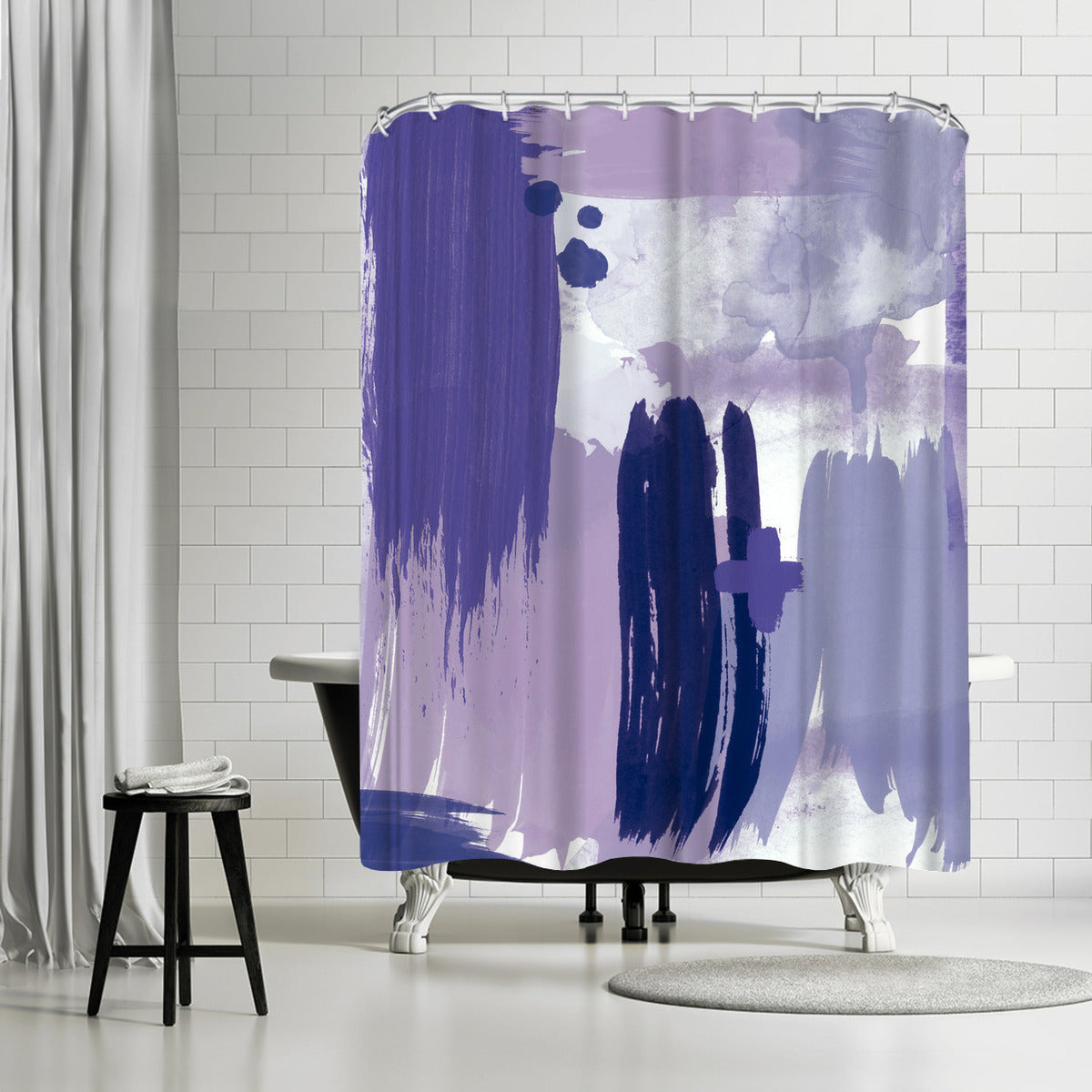Grace Purple by Amy Brinkman Shower Curtain -  - Americanflat