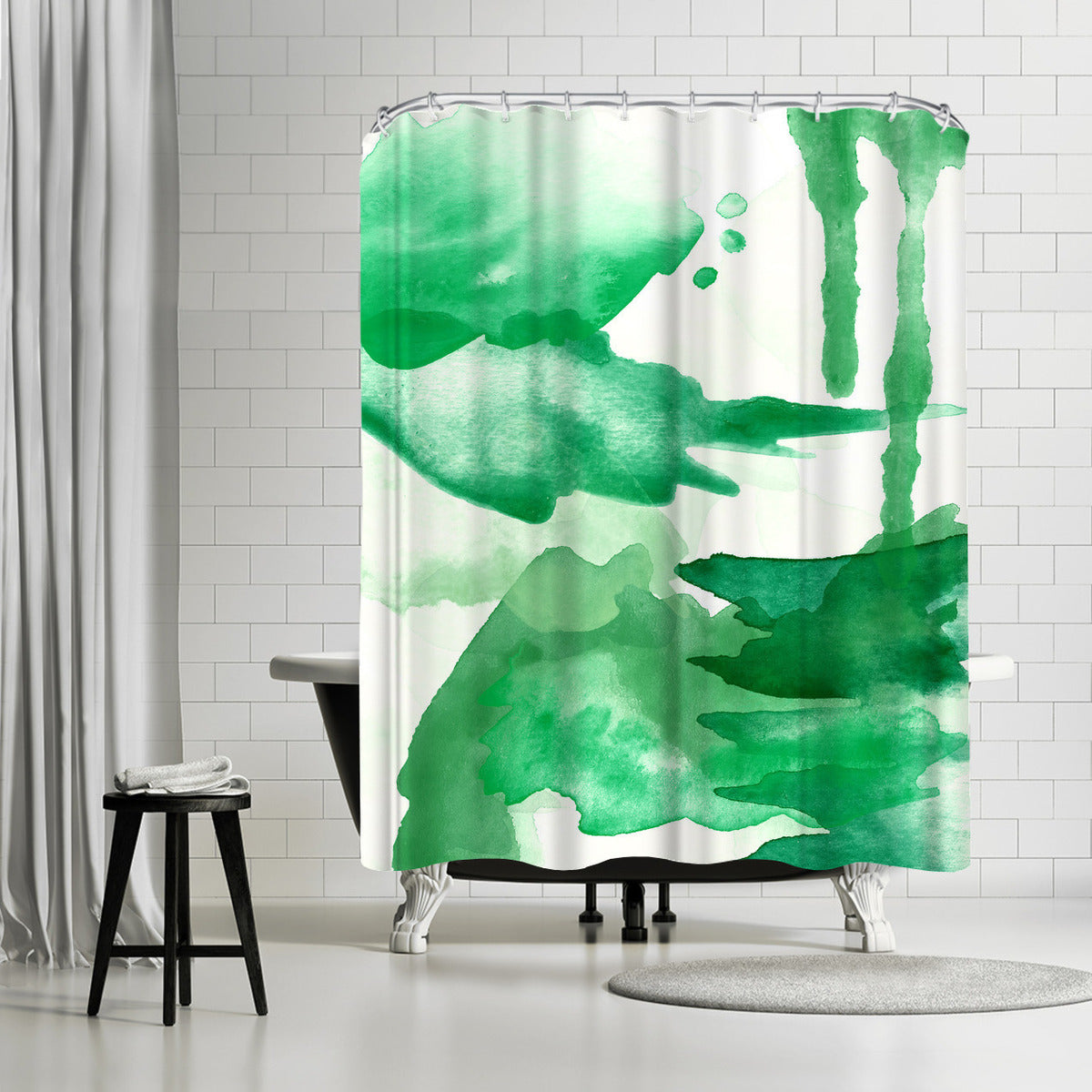 Spring Light Green by Amy Brinkman Shower Curtain