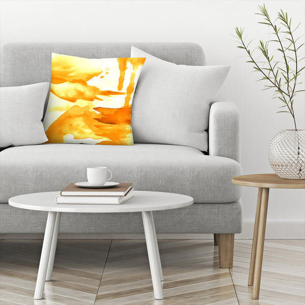 Spring Light Yellow by Amy Brinkman Decorative Pillow