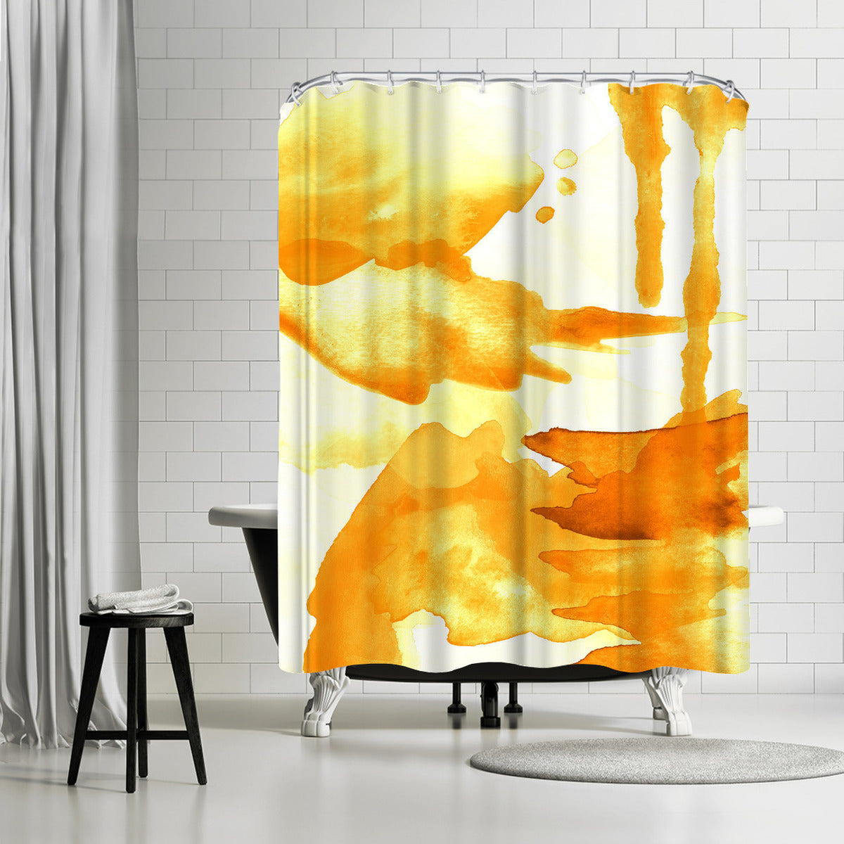 Spring Light Yellow by Amy Brinkman Shower Curtain - Shower Curtain - Americanflat