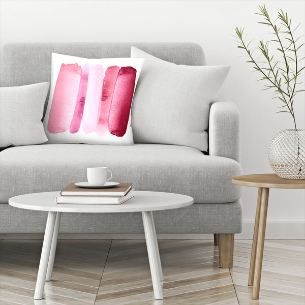 Rise Above Modern Pink by Amy Brinkman Decorative Pillow