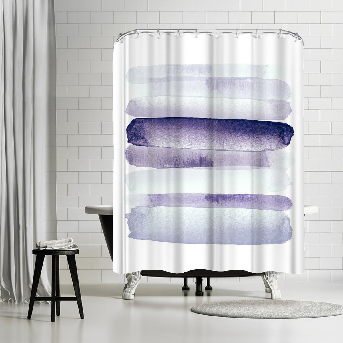 Move Forward Purple by Amy Brinkman Shower Curtain -  - Americanflat