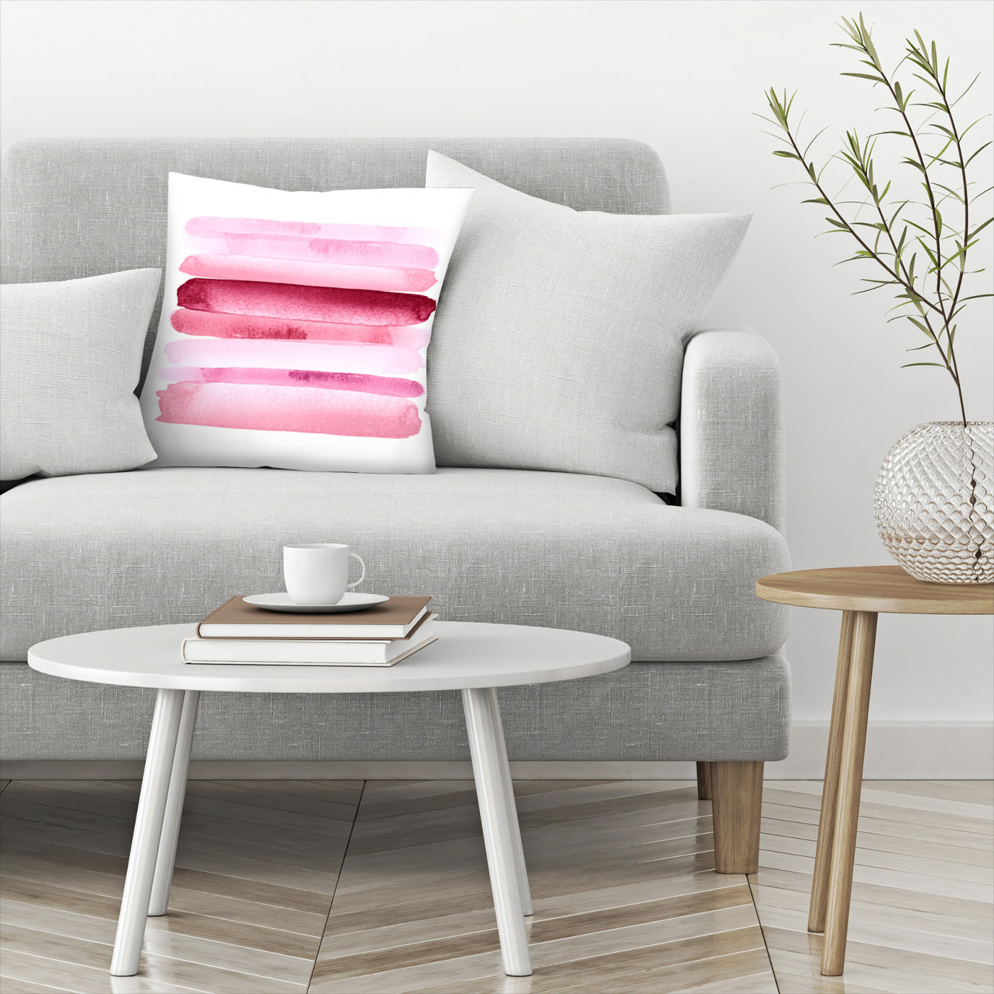 Move Forward Modern Pink by Amy Brinkman Decorative Pillow - Decorative Pillow - Americanflat
