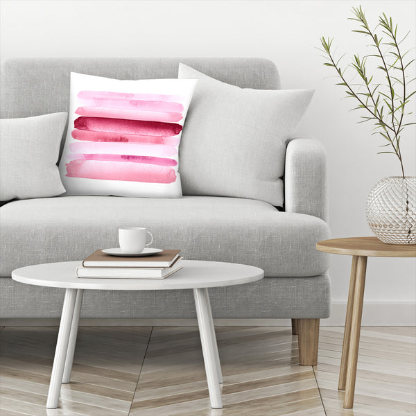 Move Forward Modern Pink by Amy Brinkman Decorative Pillow