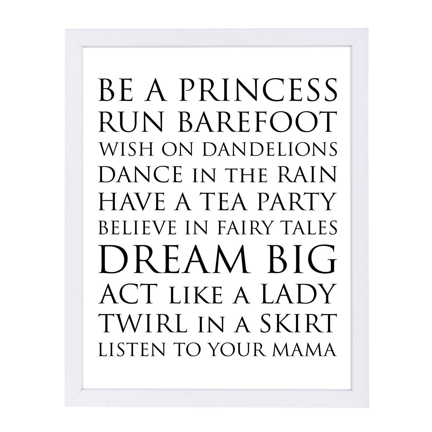 Be A Princess by Amy Brinkman Framed Print - Wall Art - Americanflat