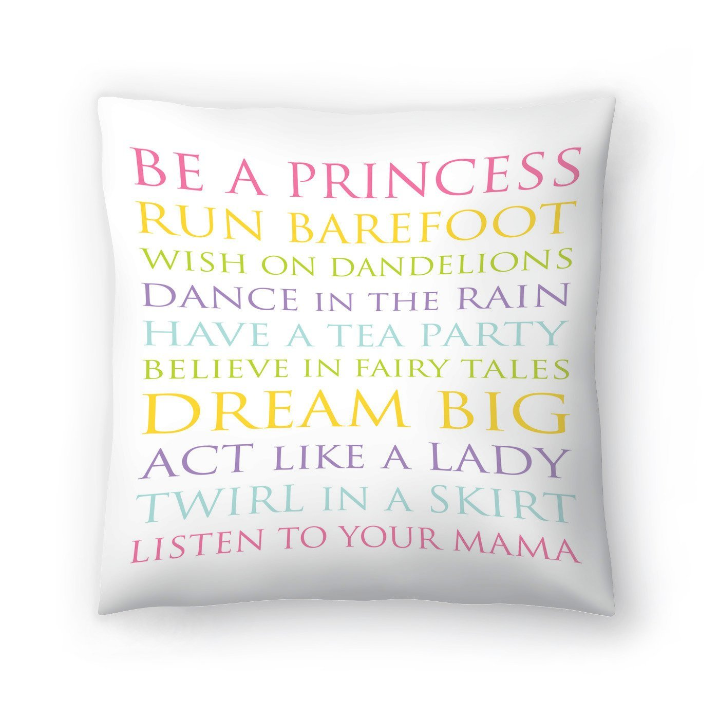 Be A Princess Multi by Amy Brinkman Decorative Pillow - Decorative Pillow - Americanflat