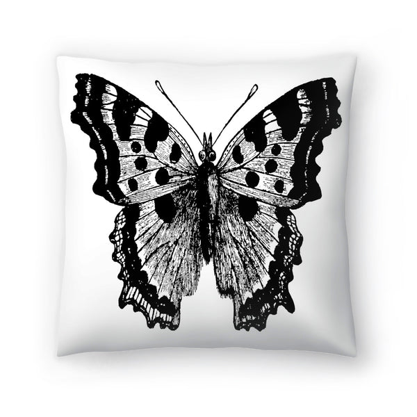 Butterfly 1 Black by Amy Brinkman Decorative Pillow