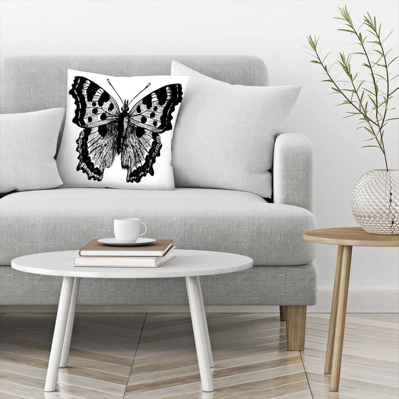 Butterfly 1 Black by Amy Brinkman Decorative Pillow - Decorative Pillow - Americanflat