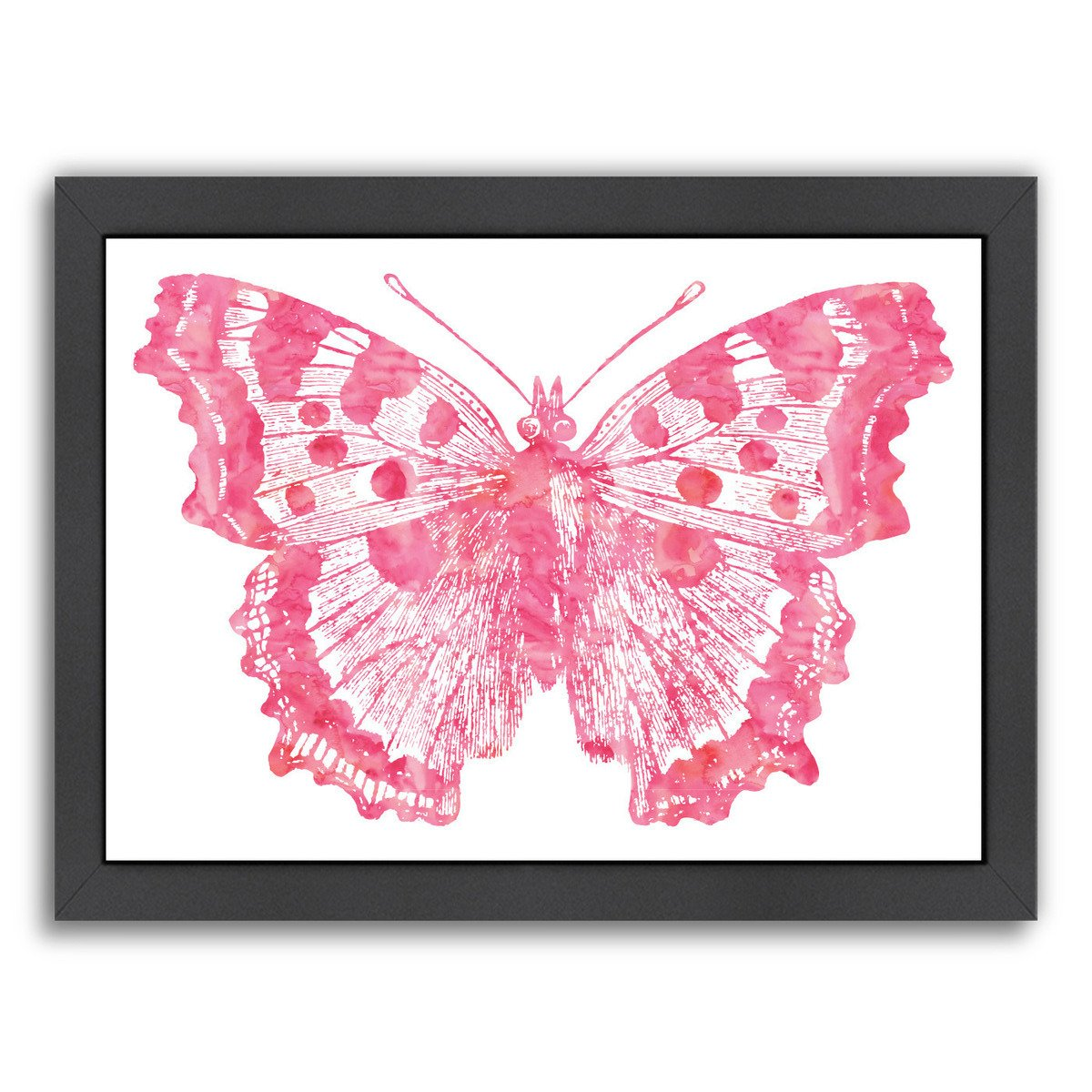 Butterfly 1 Pink Watercolor by Amy Brinkman Framed Print - Wall Art - Americanflat
