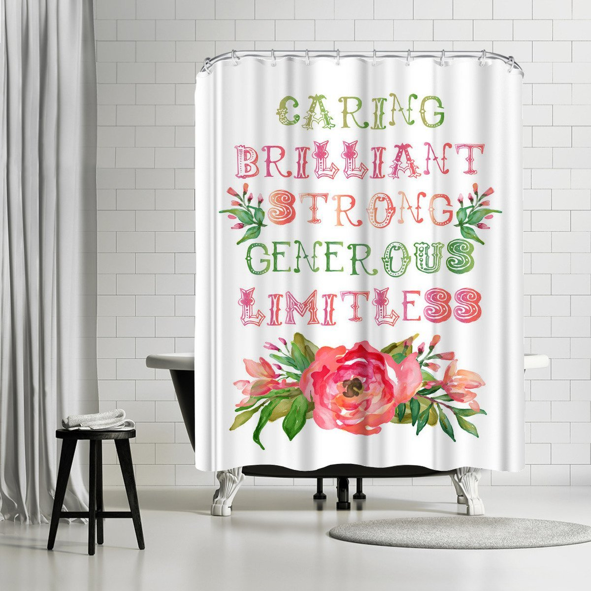 Caring Brilliant Floral by Amy Brinkman Shower Curtain - Shower Curtain - Americanflat