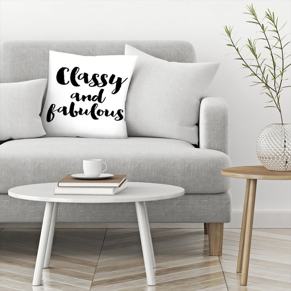 Classy Fabulous Black by Amy Brinkman Decorative Pillow