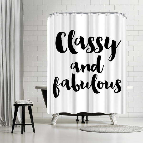 Classy Fabulous Black by Amy Brinkman Shower Curtain