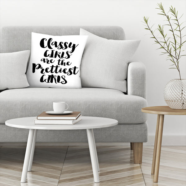 Classy Girls Prettiest by Amy Brinkman Decorative Pillow