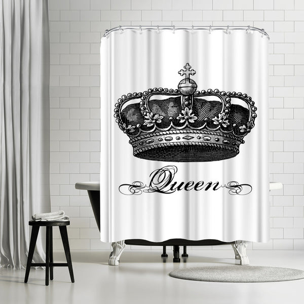 Crown Queen Black by Amy Brinkman Shower Curtain