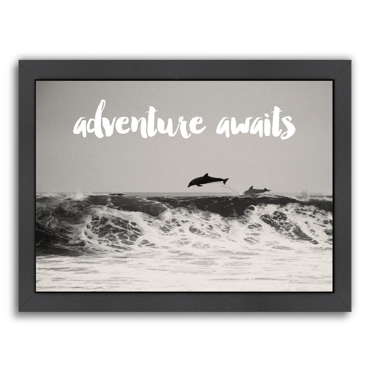 Dolphins Adventure White by Amy Brinkman Framed Print - Wall Art - Americanflat