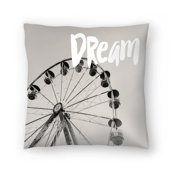 Ferris Wheel Dream White by Amy Brinkman Decorative Pillow