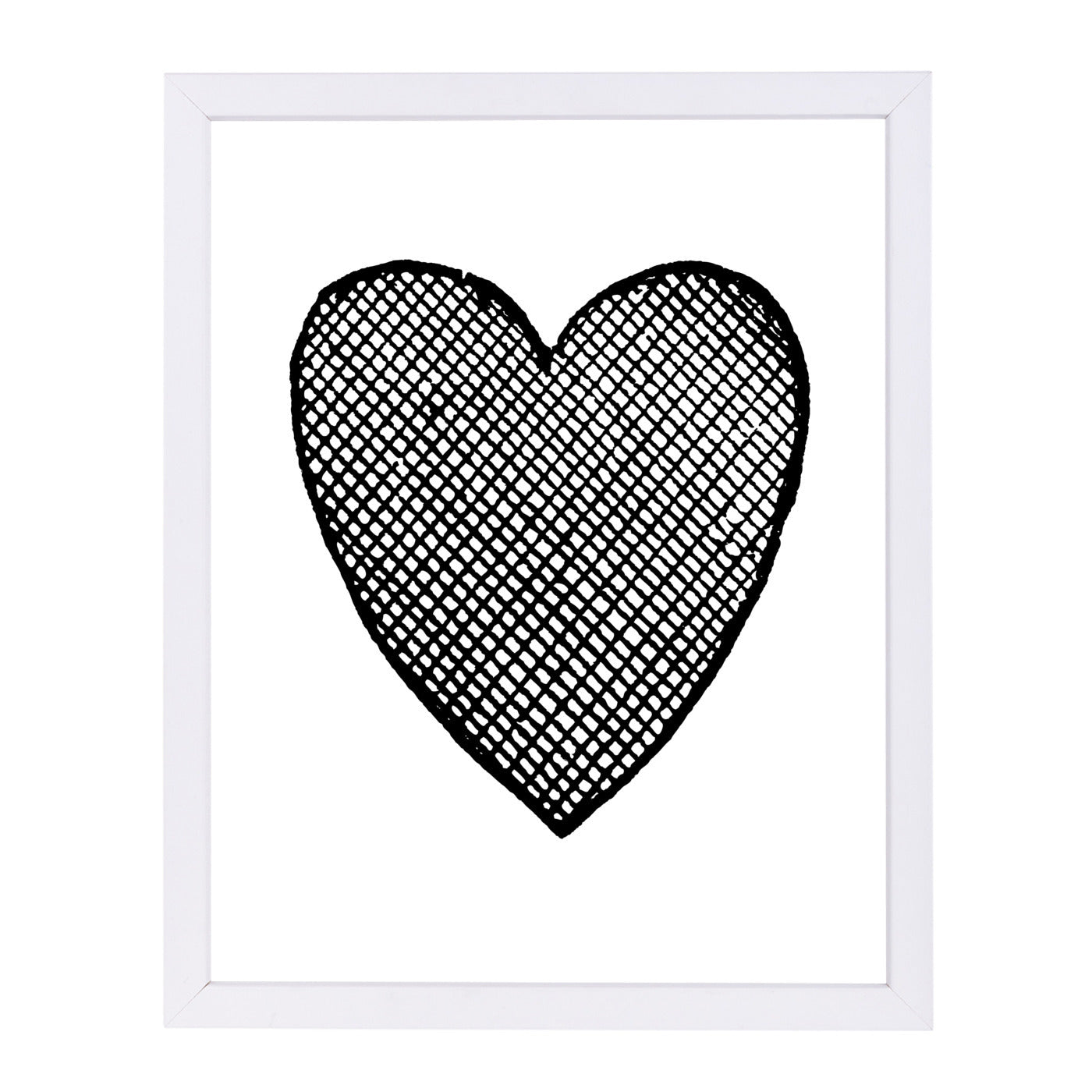 Heart Crosshatched by Amy Brinkman Framed Print - Wall Art - Americanflat