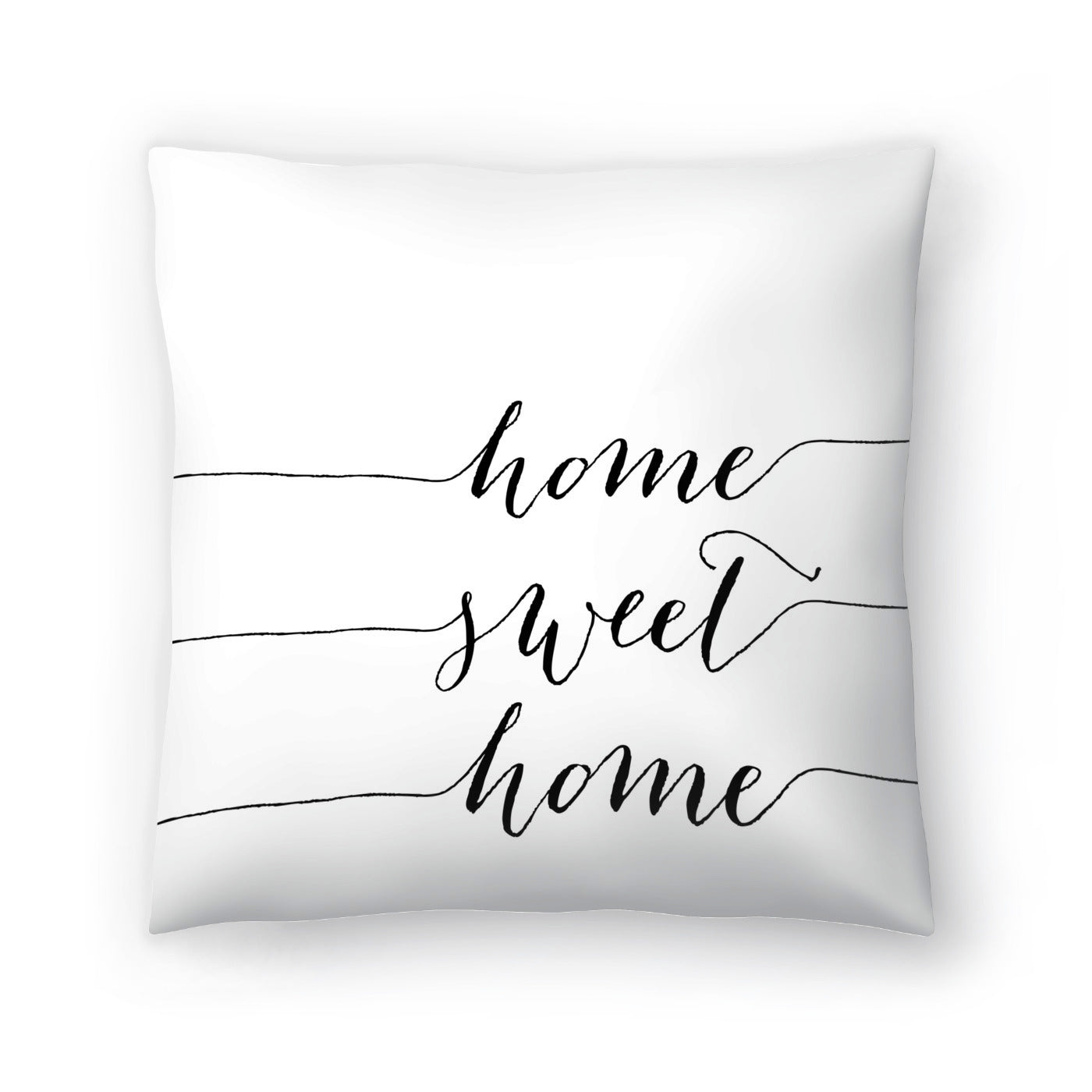 Home Sweet Home Black by Amy Brinkman Decorative Pillow - Decorative Pillow - Americanflat