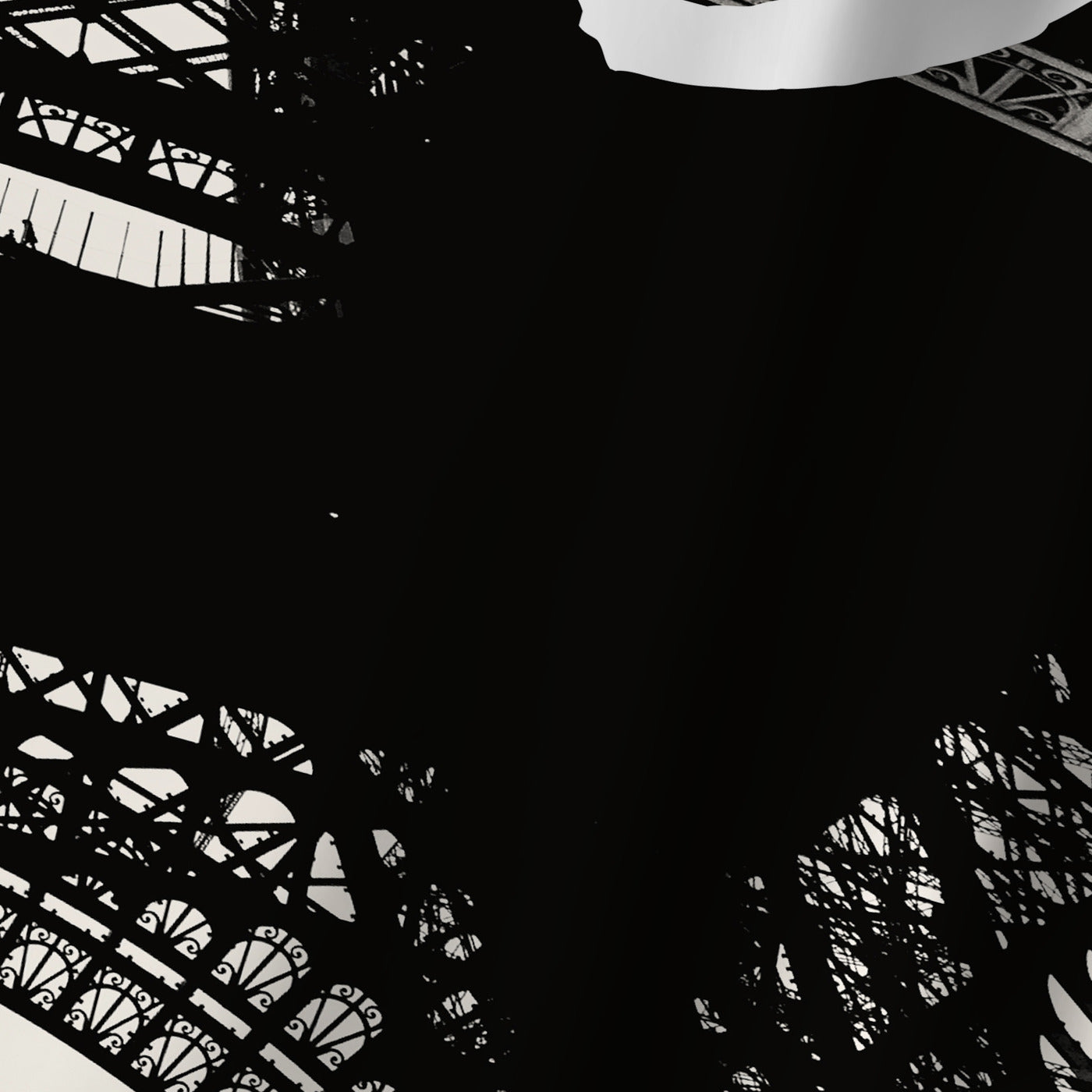 Paris Eiffel Tower Black White by Amy Brinkman Shower Curtain -  - Americanflat
