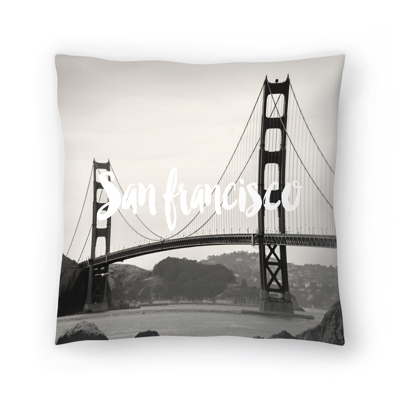 San Francisco Golden Gate White by Amy Brinkman Decorative Pillow - Decorative Pillow - Americanflat