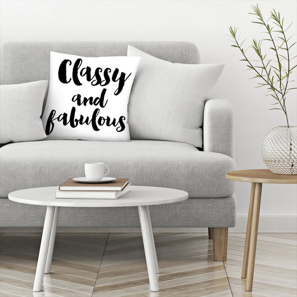 Classy Fabulous by Amy Brinkman Decorative Pillow