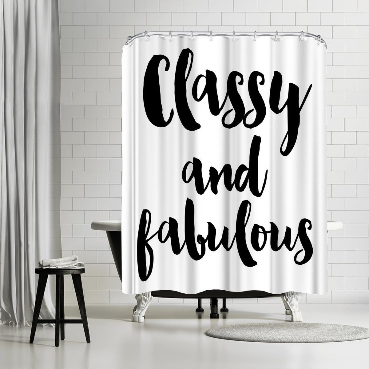 Classy Fabulous by Amy Brinkman Shower Curtain -  - Americanflat