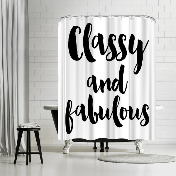 Classy Fabulous by Amy Brinkman Shower Curtain