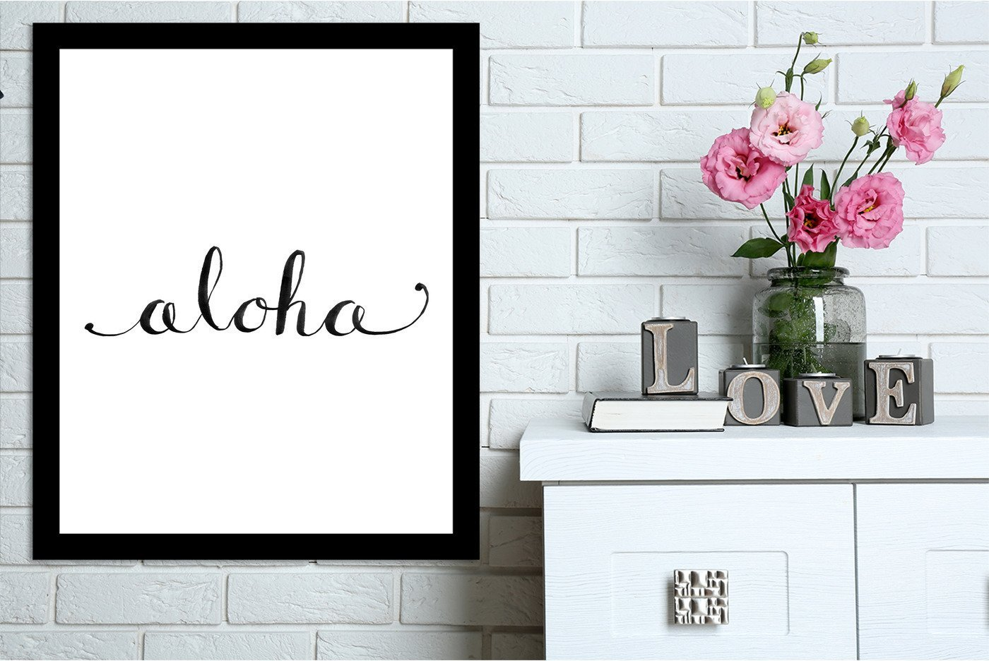 Aloha by Jetty Printables Framed Print - Wall Art - Americanflat
