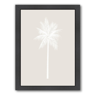 Beige White Palm by Jetty Printables Framed Print - Wall Art - Americanflat
