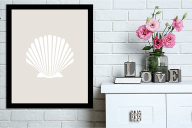 Beige White Shell by Jetty Printables Framed Print - Wall Art - Americanflat