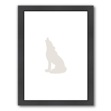 Beige Wolf by Jetty Printables Framed Print - Wall Art - Americanflat