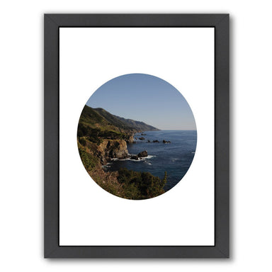 Big Sur Circle by Jetty Printables Framed Print - Wall Art - Americanflat